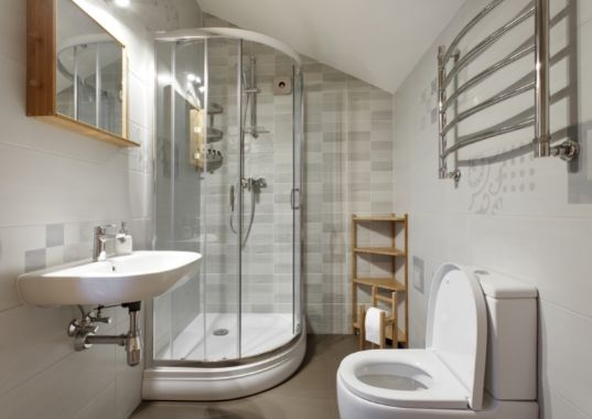 Classic and chic bathroom with glass shower enclosure   Cairns Bathroom Renovations